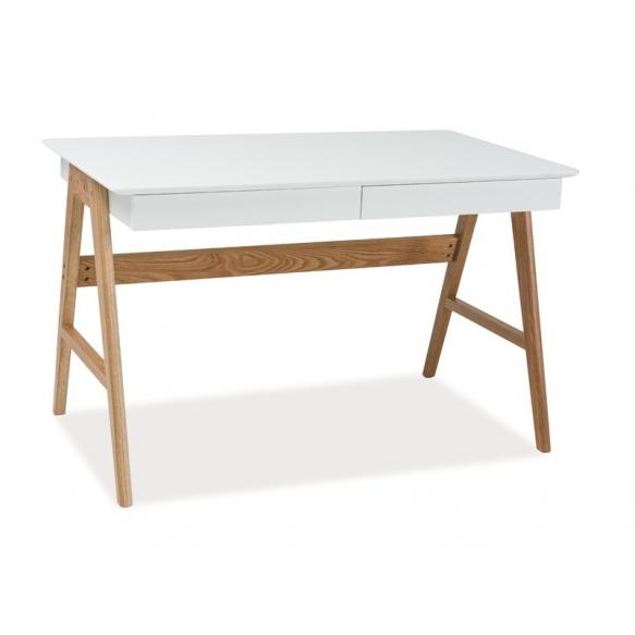 kirjoituspöytä Nordic, tammi+valkoinen