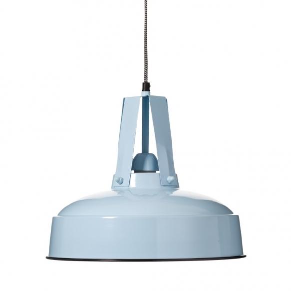 metallinen industrial-kattolamppu, sininen