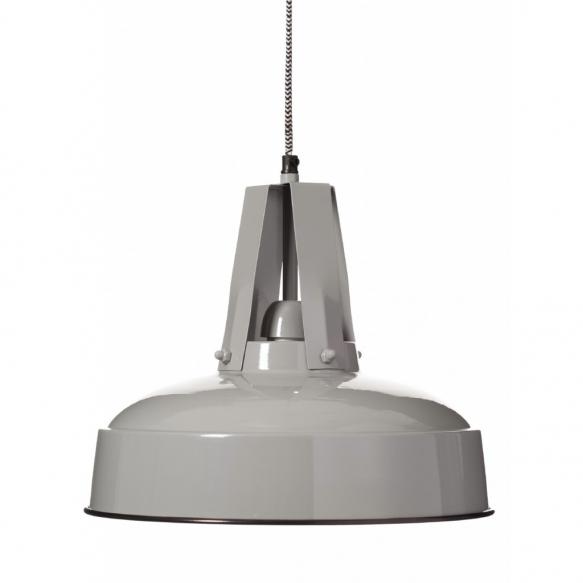 metallinen industrial-kattolamppu, harmaa