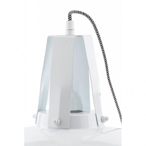 metallinen industrial-kattolamppu, valkoinen