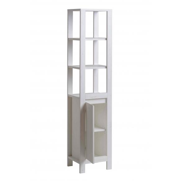 korkea kaappi Interia Classic Andersen, 41x185x35 cm, valkoinen