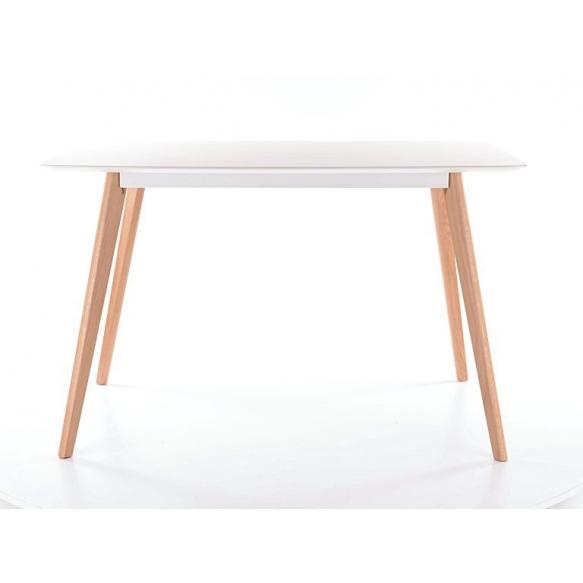 ruokapöytä Nordic, valkoinen/tammi, 120x80 cm