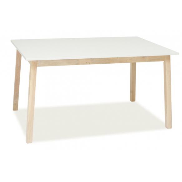 jatkettava ruokapöytä Nordic valkoinen/valkoinen tammi 140(180)x 90 cm