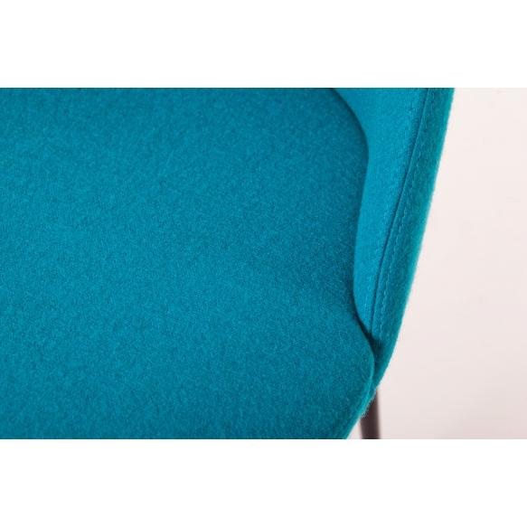 käsinojallinen Norman C, sininen, mustat metallijalat