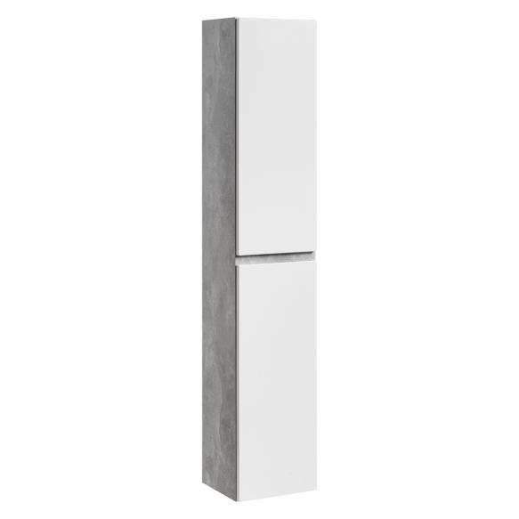korkea kaappi Interia Atelier, 30x160x27 cm, valkoinen/harmaa