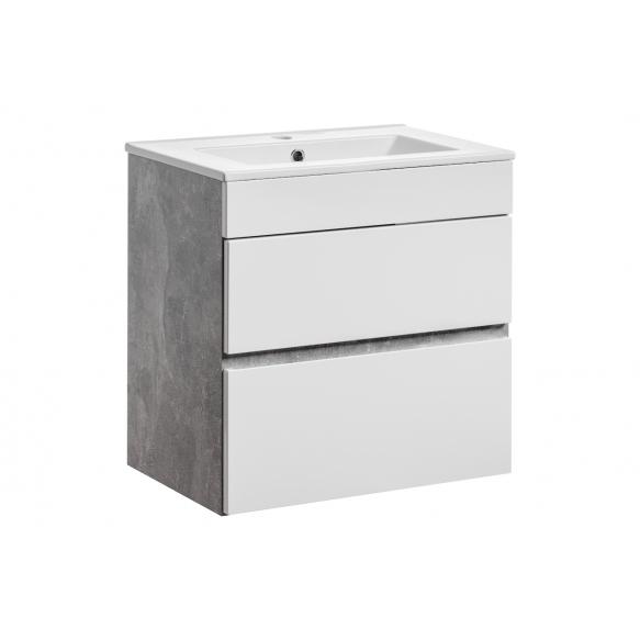 allaskaluste Interia Atelier 60, 59x60x39 cm, valkoinen/harmaa