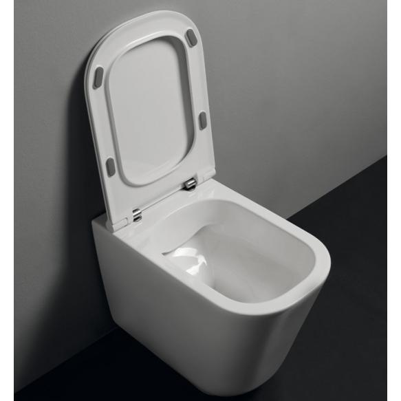 wc-istuin Kerasan Tribeca Rimless 5118, lattiamalli, valkoinen