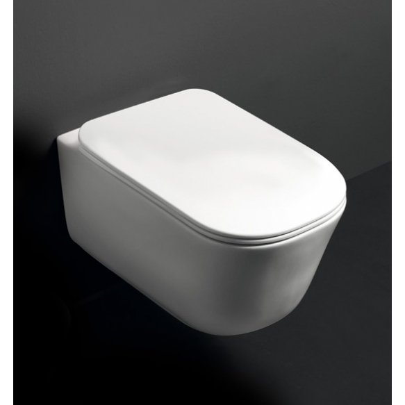 wc-istuin Kerasan Tribeca Rimless 5114, seinämalli, valkoinen