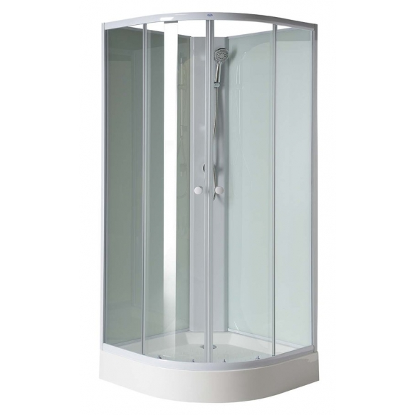 suihkukaappi Interia RSC-YB93, 90 x 90 x 206 cm, kirkas lasi