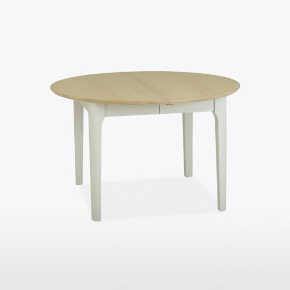 jatkettava pyöreä ruokapöytä 120/155 cm