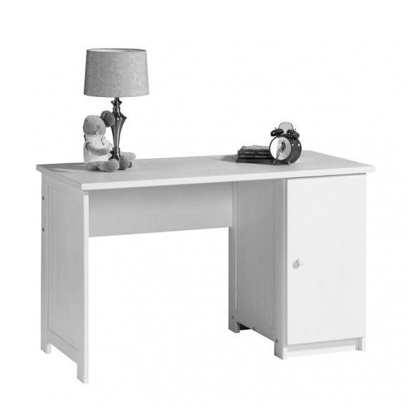 kirjoituspöytä, valkoinen