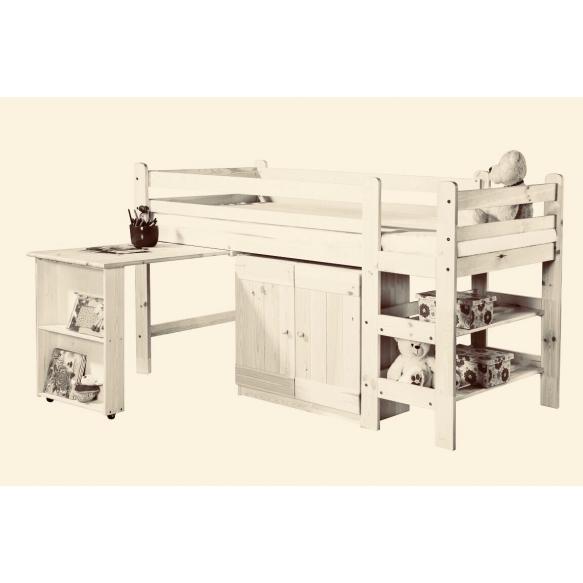sänky, kirjoituspöytä, kaappi 190x90 cm, beige