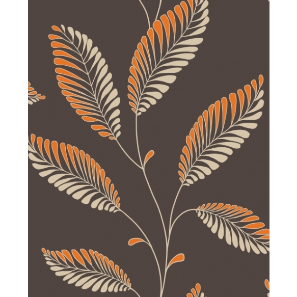Accents Leaf Chocolate/Orange