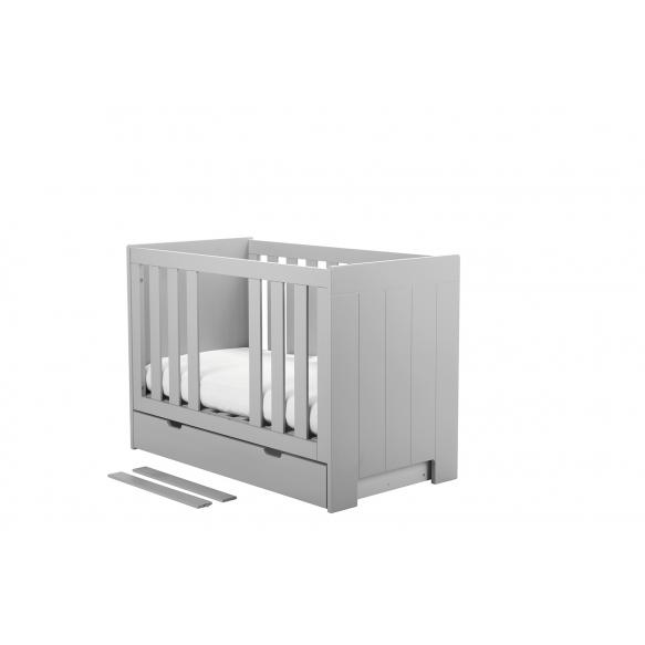 vauvansänky Calmo 120x60 cm, sänkylaatikko ei kuulu hintaan, harmaa