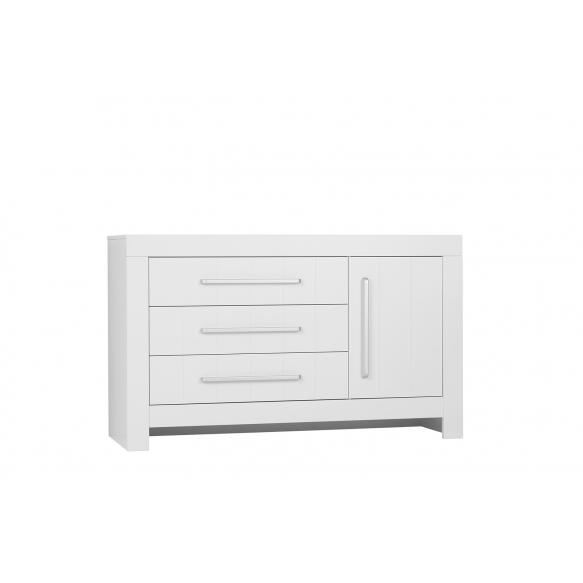 lipasto Calmo 3 laatikolla ja 1 ovella, valkoinen