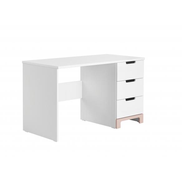 kirjoituspöytä Mini, valkoinen+pinkki