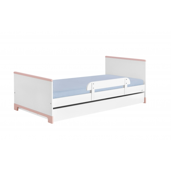 sänky, 200x90 cm, valkoinen+pinkki