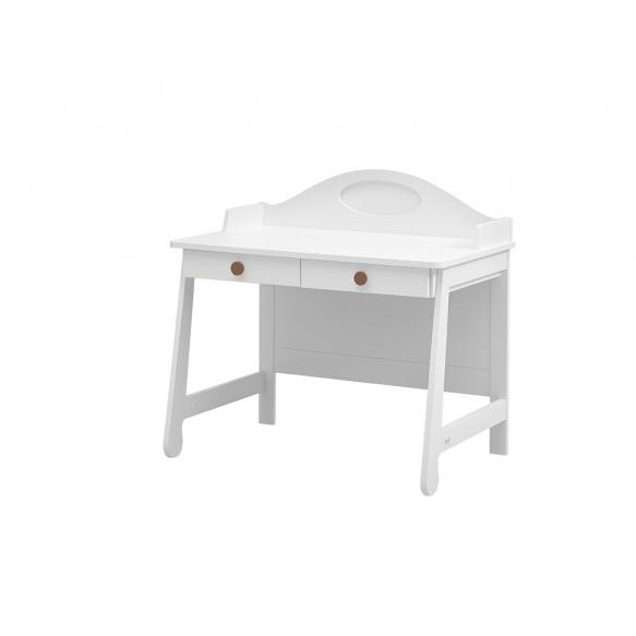 kirjoituspöytä Parole, valkoinen+ruskea
