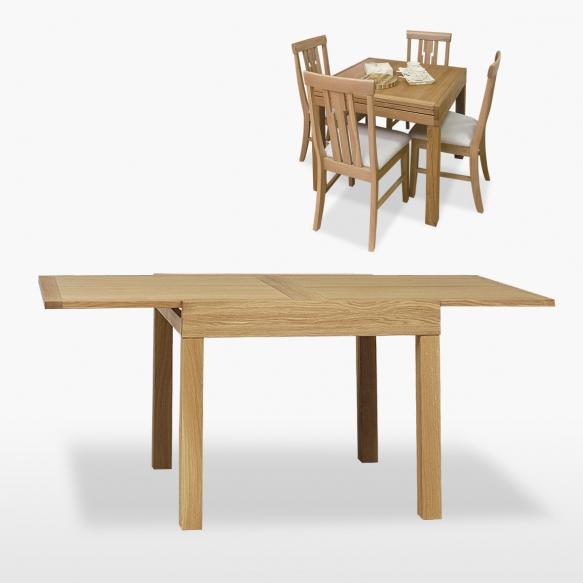 jatkettava ruudunmuotoinen ruokapöytä Venice 90/180 cm