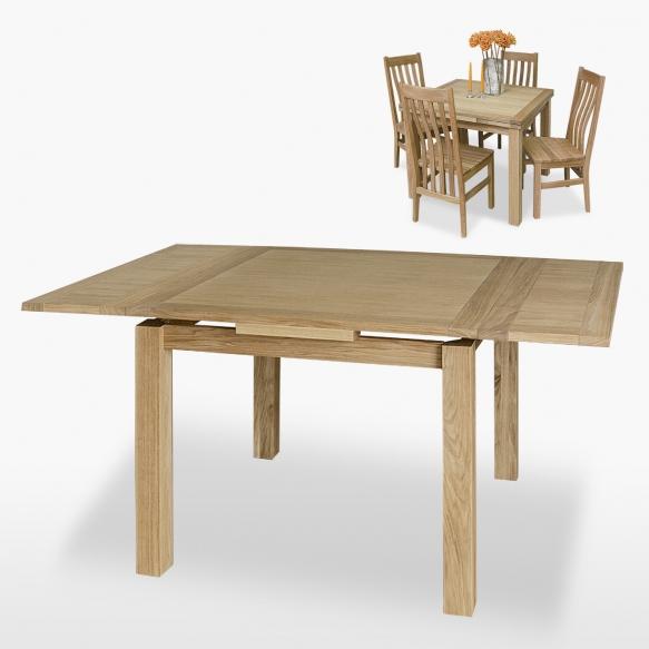 jatkettava ruudunmuotoinen ruokapöytä Boston 80/140 cm