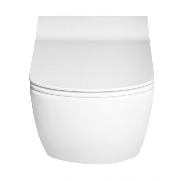 wc-istuin Creavit Elegant No Rim, seinämalli, valkoinen