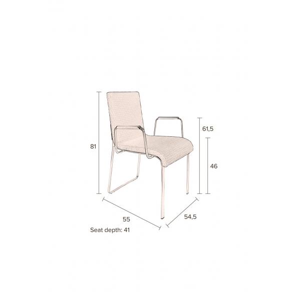 käsinojallinen tuoli Flor, okra