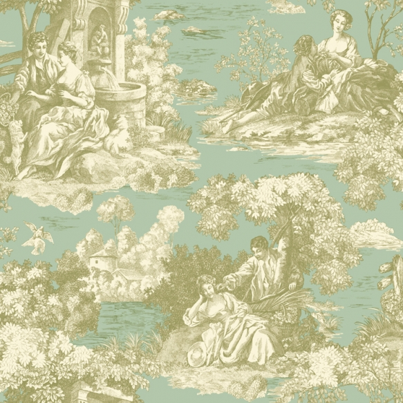 tapetti DAMASK,STRIPE & TOILE LIBRARY BOOK 21""