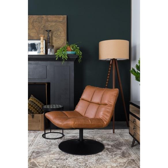 nojatuoli Bar, vintage ruskea