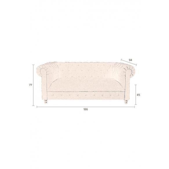 sohva Chester Velvet, tummanruskea