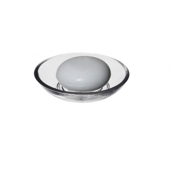 10 cm lasinen saippua-alusta, valmistettu käsin Intiassa