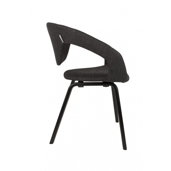käsinojallinen Flexback, musta/tummanharmaa