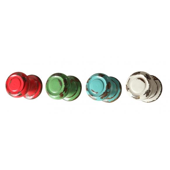 10 cm pyöreä koukku, 4 eri värisävyä