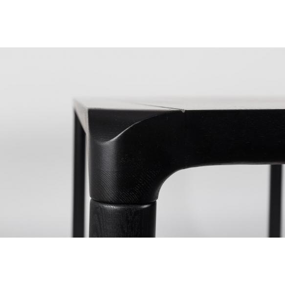 ruokapöytä Storm Black 180x90 cm