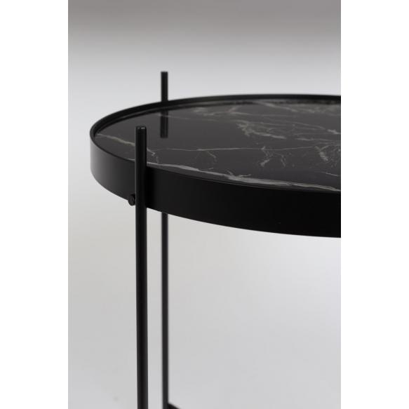 apupöytä Cupid Marble, musta