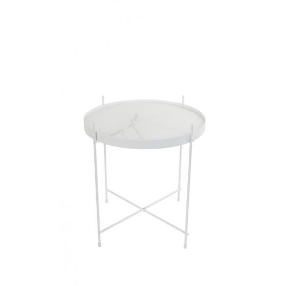 apupöytä Cupid Marble, valkoinen