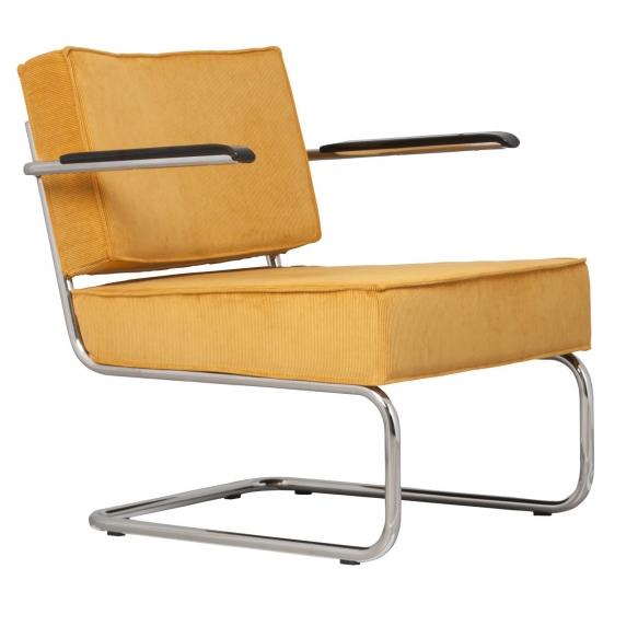 käsinojallinen nojatuoli Ridge Rib, keltainen