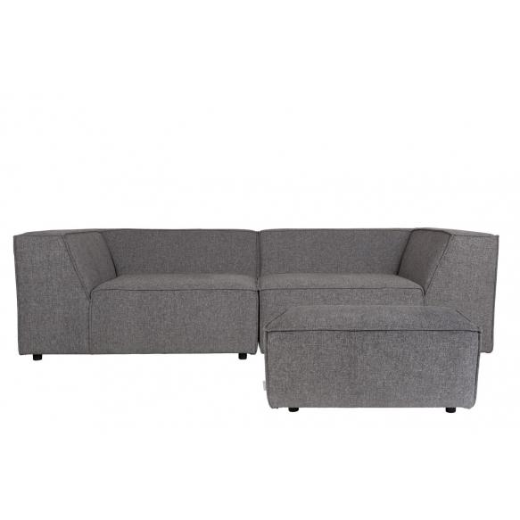 sohva King, tummanharmaa