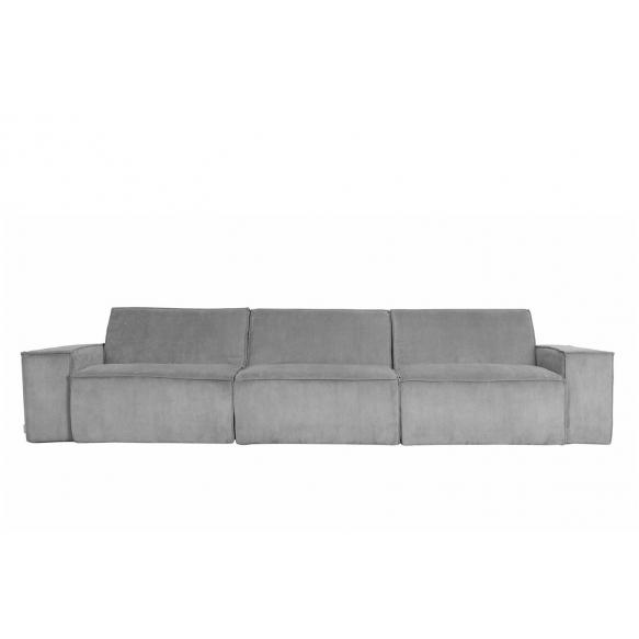 3-paikkainen sohva Rib Web, vaaleanharmaa