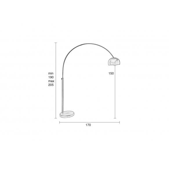lattialamppu Metal Bow, kupari