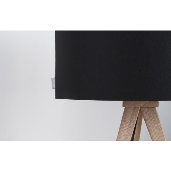 pöytälamppu Tripod Wood, musta