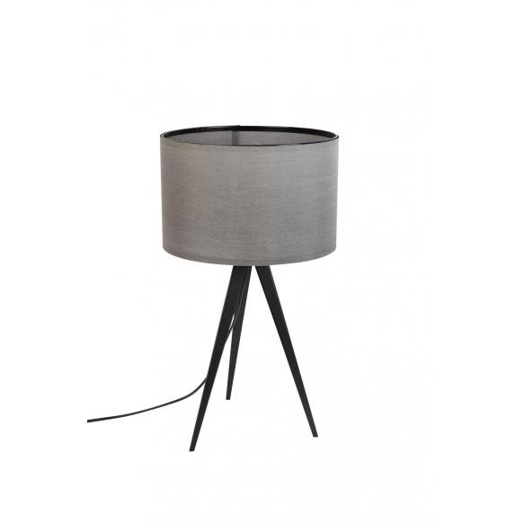 pöytälamppu Tripod, musta/harmaa