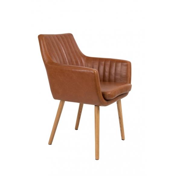 käsinojallinen tuoli Pike, konjakki