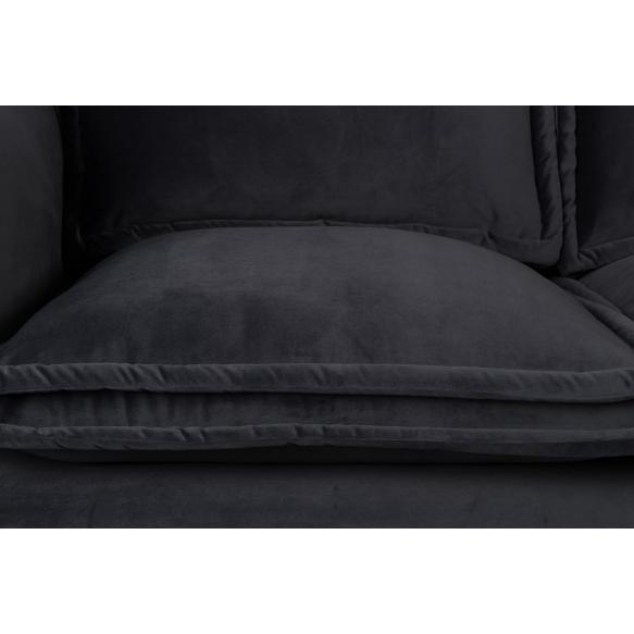 sohva Berry, tummaharmaa