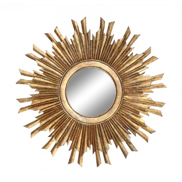 90 cm puukehyksinen peili, valmistettu käsin Intiassa