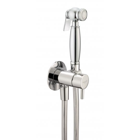 retro upotettava bidet/käsisuihkusetti kylmävesihanan ja 120 cm suihkuletkun kera