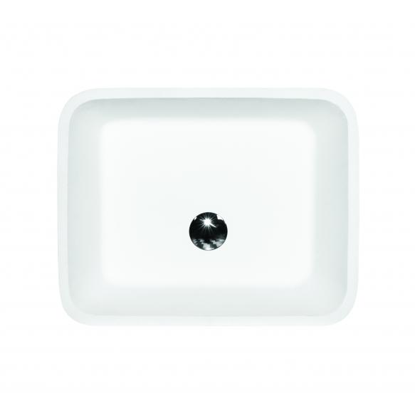 kiviallas Interia Essos WB, 520x410x150 mm, kiiltävä valkoinen