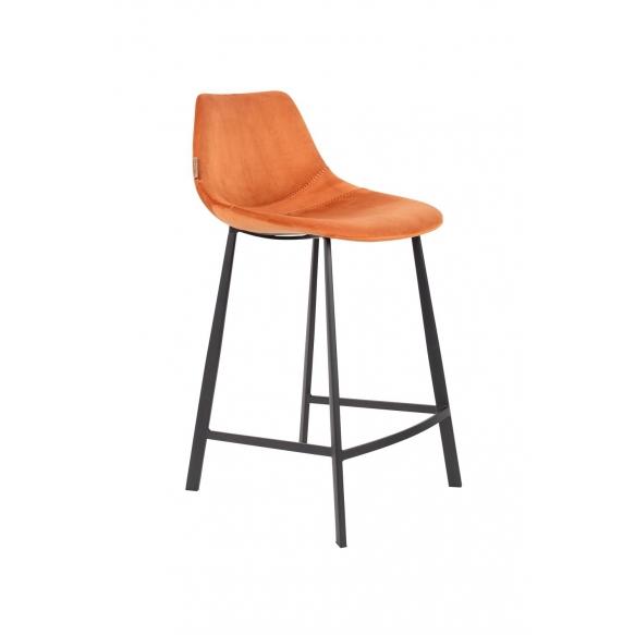 matala baarituoli Franky Velvet, oranssi
