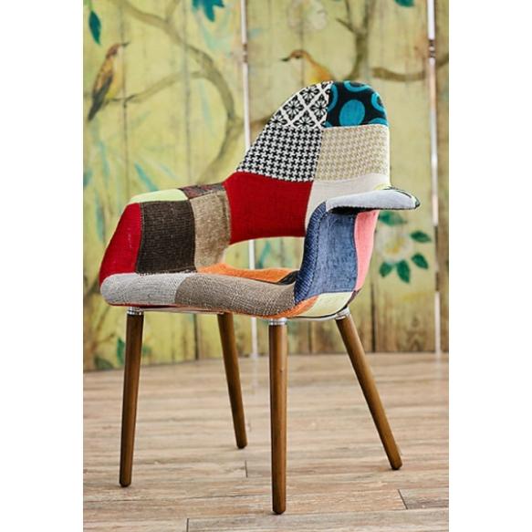käsinojallinen Arne,punainen patchwork