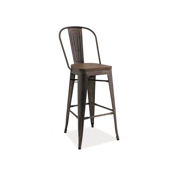 baarituoli Amelia, puinen istuinosa