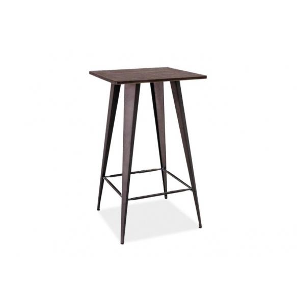 baaripöytä Industrial, puu+metalli
